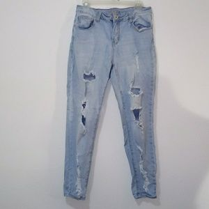 High Rise Jeggings blue jean size 12 youth